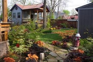 April in the back yard