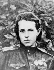 Anna in uniform,front