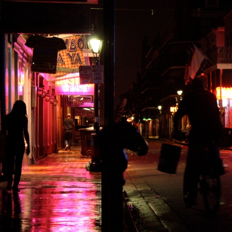 Late-night partiers on Bourbon (at 5am)