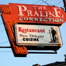 Pralines sign in The Marigny (I think)