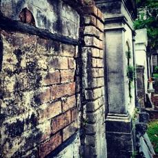 Row of mausoleums