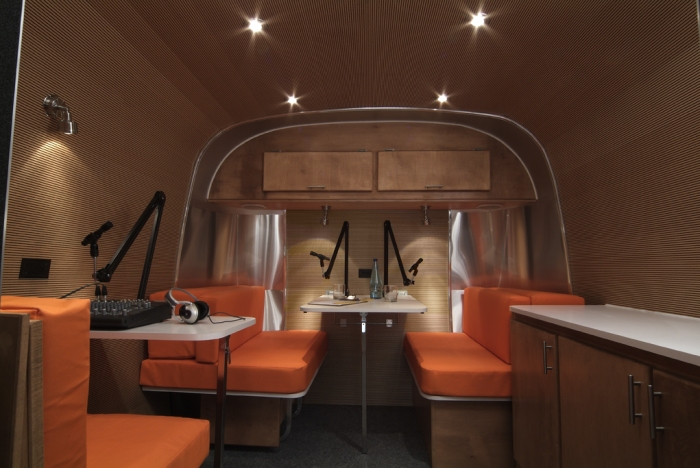 Mobile booth interior