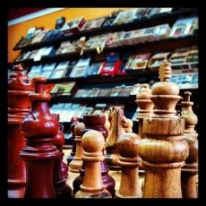 Cigar shop chessboard