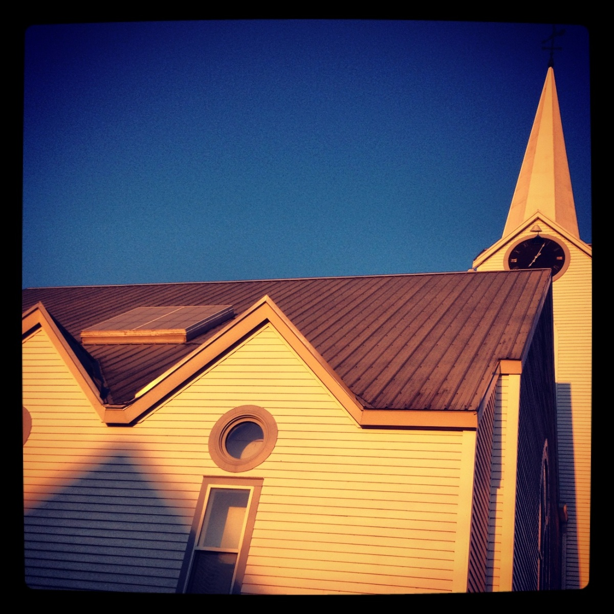 Chuch sunset in Jeffersonville