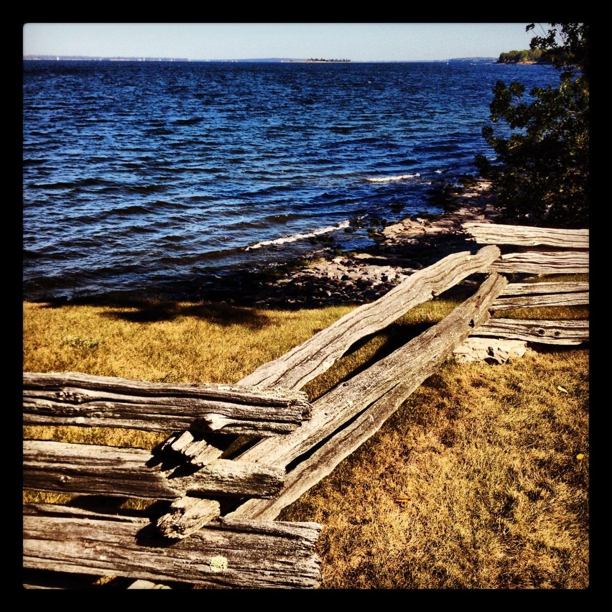 Split rail fence on Grand Isle