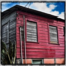 Deep red house