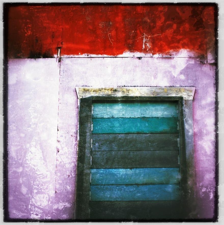 Teal window