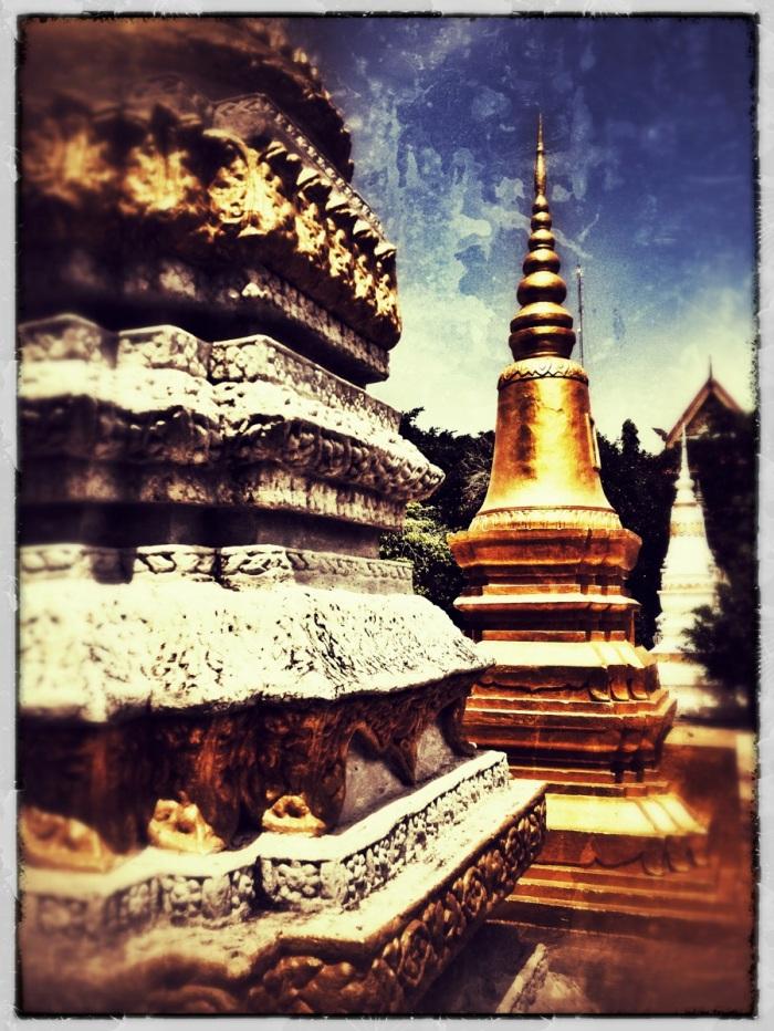 gold stupas