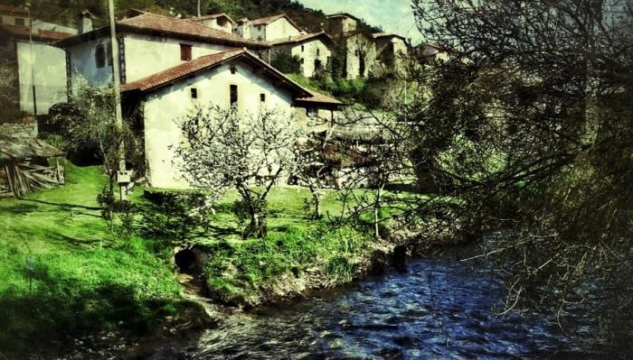 Sun-washed village