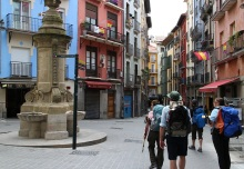 Walking into Pamplona
