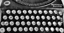 B&W typewriter