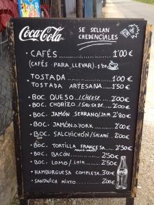 menu in Galicia