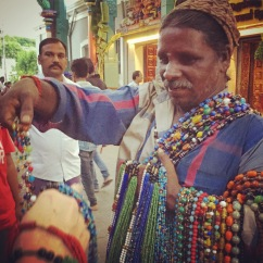 Bead guy in Pondicherry