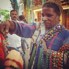 Bead guy in Pondicherry