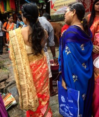 Colorful saris