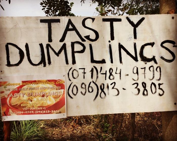 dumplings sign