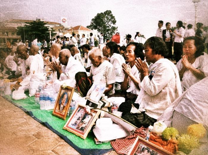 Sihanouk mourners